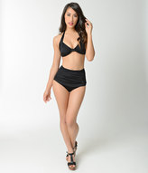 Esther Williams Retro Style Black High Waist Swim Bottom