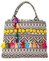 Debbie Katz Tasseled Cotton Intarsia Tote Bag