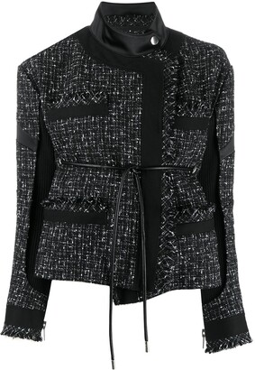 Sacai Asymmetric Tweed Jacket