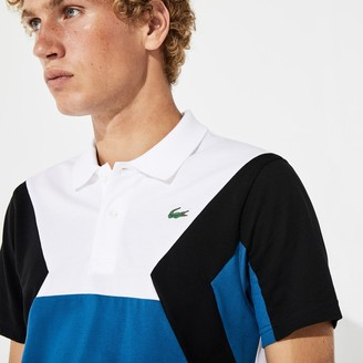 Lacoste Men's SPORT Ultra-Lightweight Color-Blocked Cotton Tennis Polo Shirt