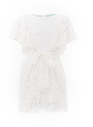 Melissa Odabash Kara Broderie-anglaise Cotton Dress - White
