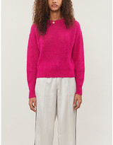 Veronica Beard Melinda rib-trimmed knitted jumper