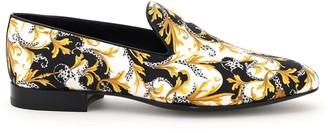 Versace Barocco Print Loafers