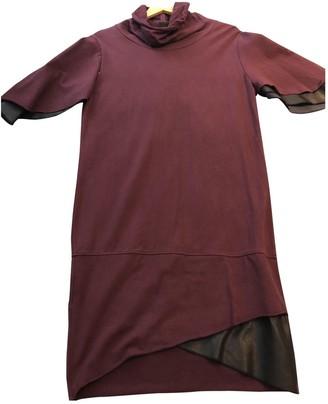 Jijil Burgundy Cotton Dress for Women
