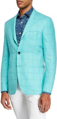 Kiton Men's Mint Window Sportcoat