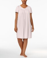 Thumbnail for your product : Miss Elaine Plus Size Tricot Flutter Sleeve Short Gown