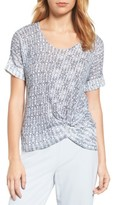 Nic+Zoe Women's Twist Front Print Top