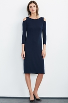 Valentina Cold Shoulder Stretch Jersey Dress