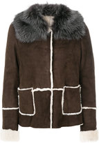 Eleventy shearling jacket