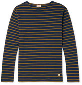 Armor Lux Striped Cotton-jersey T-shirt - Navy