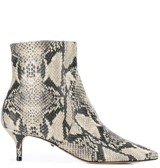 Schutz Bettie snakeskin ankle boots