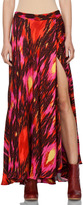 Haute Hippie Ikat Cinched Waist Skirt in Multi