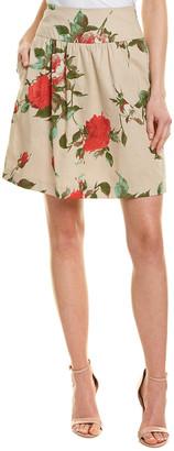 Nissa Linen-Blend Mini Skirt