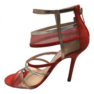 Jimmy Choo Red Suede Sandals