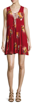 Free People Lovely Day Printed Tie Dress