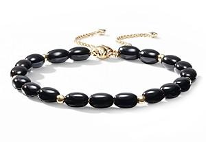 David Yurman Bijoux Spiritual Beads Bracelet with Black Onyx and 18K Gold