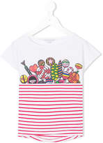 Little Marc Jacobs Candy print striped T-shirt