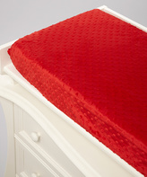 Scarlet Minky Changing Pad Cover