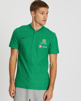 Nike Men's Green Polo Shirts - Socceroos 2018-19 Polo Shirt - Size One Size, S at The Iconic