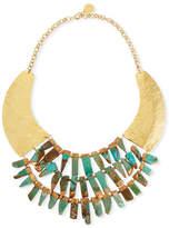 Devon Leigh Turquoise Hammered Statement Necklace