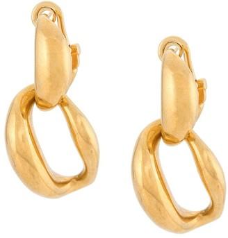 Oscar de la Renta Abstract Earrings