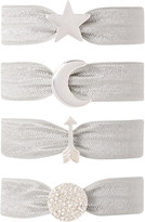 Kitsch Silver Star Charm Hair Ties