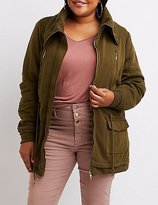 Charlotte Russe Plus Size Knit Anorak Jacket