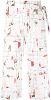 Chalayan rose print wrap trousers - women - Cotton - M