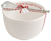 Mud Pie Holiday Stoneware Mixing Bowl & Whisk