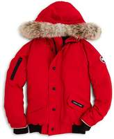 Canada Goose Boys' Rundle Bomber with Fur Hood - Big Kid