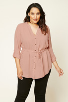 Forever 21 FOREVER 21+ Plus Size Button-Front Tunic