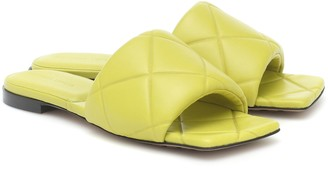 Bottega Veneta Rubber Lido leather sandals