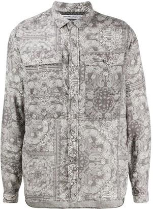 White Mountaineering Paisley-Print Two-Pocket Shirt