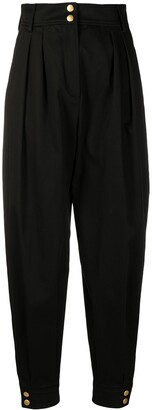 Alberta Ferretti High-Rise Tapered Trousers