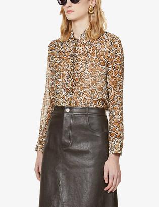 Max Mara Mulino leopard-print silk-crepe shirt