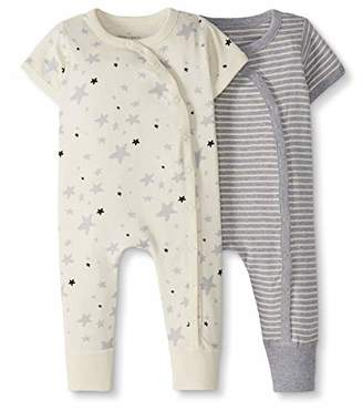 Hanna Andersson Moon and Back by Baby 2-Pack One-Piece Organic Cotton Short Sleeve Romper