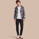 Burberry Lightweight British Seaside Print Technical Jacket With Hood