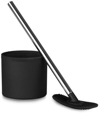 Ro & De Rode - Unique Designer Toilet Brush Cleaner With Tough Silicon Head In Black Wall Mounted - Black