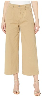 Levi's(r) Womens Pleated Wide Leg Chino Pants (Khaki) Women's Casual Pants