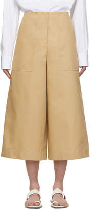 Jil Sander Navy Tan Wide Casual Trousers