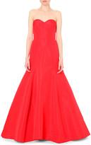 Oscar de la Renta Strapless silk-satin gown