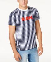 G Star RAW Men's Logo-Print Striped T-Shirt