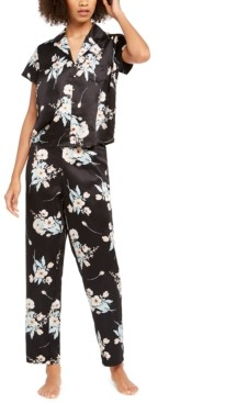INC International Concepts Inc Printed Short Sleeve Pajama Set, Created for Macy's