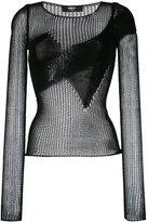 Yang Li open-knit top