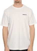 Patagonia Pagonia Logo T Shirt in White