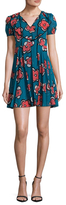 RED Valentino Printed Pleated A Line Dress