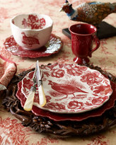 Four Woodlands Toile Dinner Plates