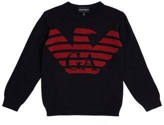 Emporio Armani Kids Eagle Logo Sweater (4-16 Years)