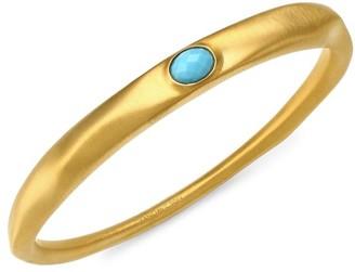 Dean Davidson 22K Goldplated & Turquoise Bangle Bracelet