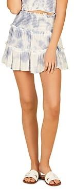 Vintage Havana Tie Dyed Tiered Mini Skirt